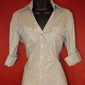 Express pinstriped shirt